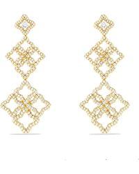 David Yurman - Quatrefoil 18k Gold Diamond Drop Earrings - Lyst