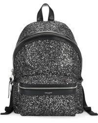 Saint Laurent - Mini City Glitter Backpack - Lyst