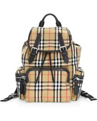 4b29162e76dc Burberry - Women s Signature Check Backpack - Antique Yellow - Lyst