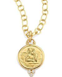 Temple St. Clair - Diamond & 18k Yellow Gold Angel Pendant - Lyst