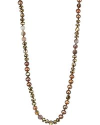 Chan Luu - 6mm Dark Champagne Pearl & Sterling Silver Mix Necklace - Lyst