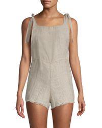 Mikoh Swimwear - Akamai Linen Tie-shoulder Romper - Lyst
