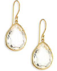 670926af4b1 Ippolita - Women s Rock Candy® Gelato Clear Quartz   18k Yellow Gold Medium  Teardrop Earrings