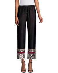 Trina Turk - Obsidian Wide Leg Cropped Pull-on Pant - Lyst