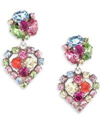 DANNIJO - Tansy Crystal Earrings - Lyst