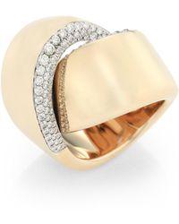 Vhernier - Abbraccio Diamond & 18k White Gold Ring - Lyst