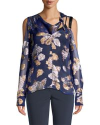 Yigal Azrouël - Cold Shoulder Scarf Blouse - Lyst
