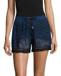Jonathan Simkhai - Embroidered Ruffle Shorts - Lyst