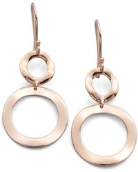 Ippolita - Rosé Carino Open Snowman Drop Earrings - Lyst