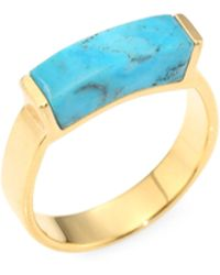 Monica Vinader - Linear Turquoise Ring - Lyst