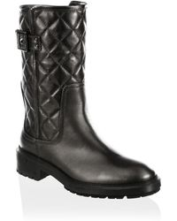 Aquatalia - Layla Quilted Leather Boots - Lyst