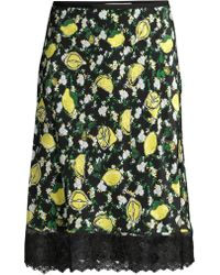13cbea65ca Diane von Furstenberg - Chrissy Floral Silk Knee-length Skirt - Lyst