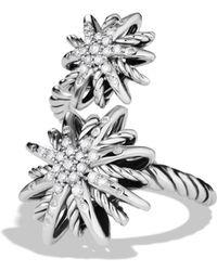 David Yurman - Starburst Open Ring With Diamonds - Lyst