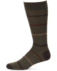 Saks Fifth Avenue - Collection Simple Stripe Dress Socks - Lyst