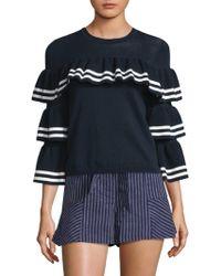 Parker - Rhonda Ruffle Sweater - Lyst