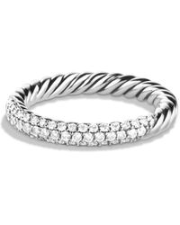 David Yurman - Petite Pave Ring With Diamonds - Lyst