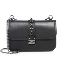 Valentino - Rocklock Medium Leather Crossbody Bag - Lyst