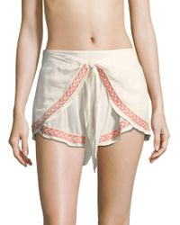 L*Space - Ivy Tie-front Shorts - Lyst