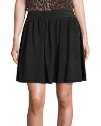 Saks Fifth Avenue - Suede A-line Skirt - Lyst
