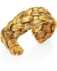 Aurelie Bidermann - Braided Cuff Bracelet - Lyst