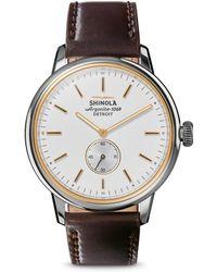 Shinola - The Bedrock Analog Wristwatch - Lyst