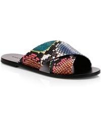 Alice + Olivia - Women's Harrieta Rainbow Snake Embossed Slides - Size 5 Sandals - Lyst