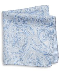 Saks Fifth Avenue - Collection Paisley Print Silk Pocket Square - Lyst