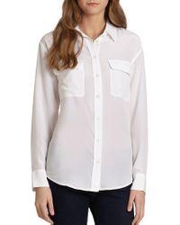 Equipment - Signature Silk Shirt - Lyst