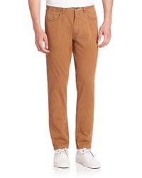 Saks Fifth Avenue | Collection Sulfur Dyed Pima Cotton Pants | Lyst