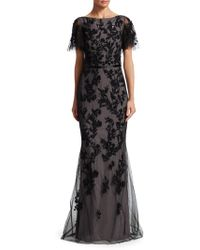 David Meister - Sequin Tulle Mermaid Gown - Lyst