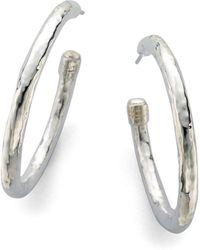 Ippolita - Glamazon Sterling Silver #3 Hoop Earrings/1.75 - Lyst