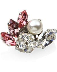 Jimmy Choo - Camellia Crystal & Faux Pearl Shoe Charm - Lyst