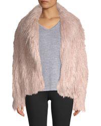 Lamarque - Harika Pink Shaggy Faux-fur Jacket - Lyst