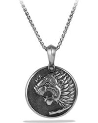David Yurman - Petrvs Lion Coin Amulet - Lyst
