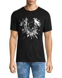 True Religion - Men's Shattered Metallic Logo-print T-shirt - Lyst
