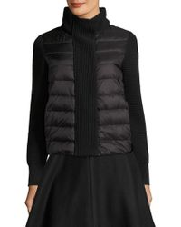Moncler - Maglione Tricot Puffer Jacket - Lyst