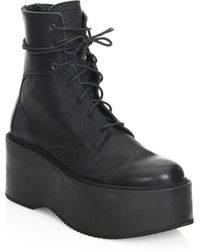 LD Tuttle - The Plunge Leather Mid-calf Platform Boots - Lyst
