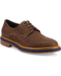 A.Testoni - Phenice Leather Derby Shoes - Lyst