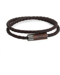 Tateossian - Montecarlo Leather & Wooden Bracelet - Lyst