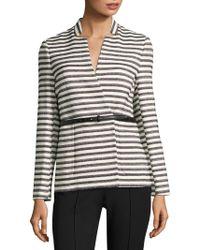 L.K.Bennett - Cora Belted Striped Jacket - Lyst