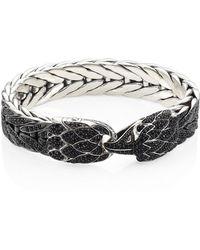 John Hardy - Legends Eagle Black Sapphire & Sterling Silver Bracelet - Lyst