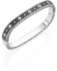 Roberto Coin | Princess Diamond 18k White Gold Bangle Bracelet | Lyst