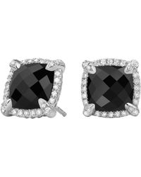 David Yurman - Chã¢telaine® Pave Bezel Stud Earring With Gemstone And Diamonds - Lyst