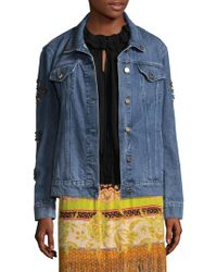 Etro - Jean Jacket With Patch - Lyst