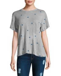 Wildfox - Printed Star Football Tee - Lyst