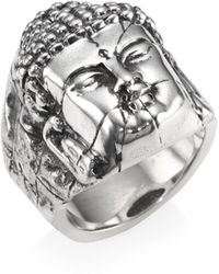 King Baby Studio - Sterling Silver Temple Ruin Buddha Ring - Lyst