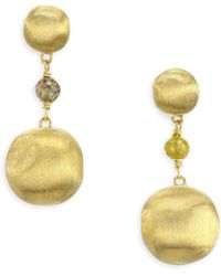 Marco Bicego - Africa Multicolor Diamond & 18k Yellow Gold Beaded Drop Earrings - Lyst