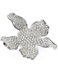 Lele Sadoughi - Paved Lily Statement Ring - Lyst