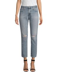 AG Jeans - Isabelle High-rise Straight Crop Jeans - Lyst