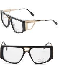 Balmain - 56mm Aviator Shield Optical Sunglasses - Lyst
